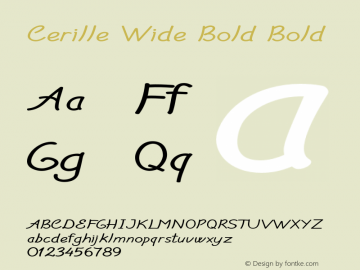 Cerille Wide Bold Bold Version 1.000图片样张