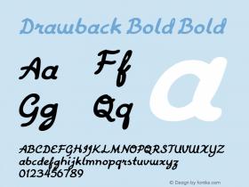Drawback Bold Bold Version 1.000图片样张