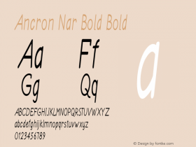 Ancron Nar Bold Bold Version 1.000图片样张