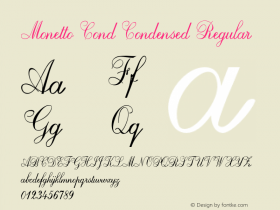 Monetto Cond Condensed Regular Version 1.000图片样张