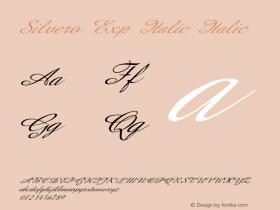 Silvero Exp Italic Italic Version 1.000图片样张