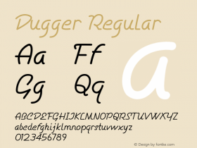 Dugger Regular Version 1.000图片样张