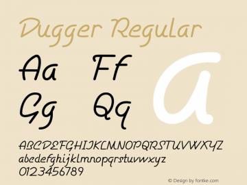 Dugger Regular Version 1.000图片样张