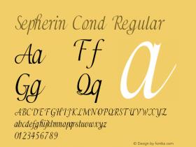 Sepherin Cond Regular Version 1.000图片样张