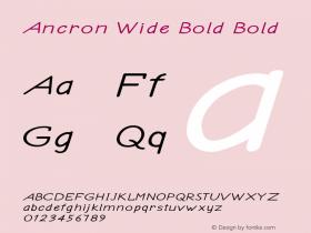 Ancron Wide Bold Bold Version 1.000图片样张