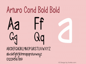 Arturo Cond Bold Bold Version 1.000图片样张