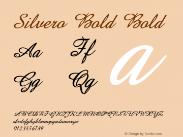 Silvero Bold Bold Version 1.000图片样张