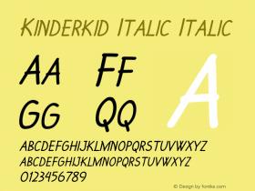 Kinderkid Italic Italic Version 1.000图片样张
