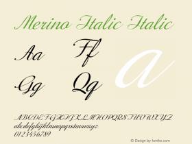 Merino Italic Italic Version 1.000图片样张