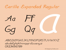 Cerille Expanded Regular Version 1.000图片样张