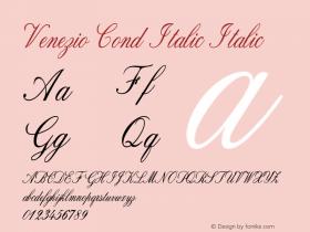 Venezio Cond Italic Italic Version 1.000图片样张