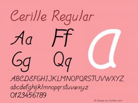 Cerille Regular Version 1.000图片样张