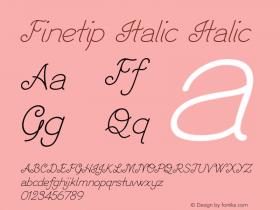 Finetip Italic Italic Version 1.000图片样张
