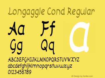 Longaggle Cond Regular Version 1.000图片样张