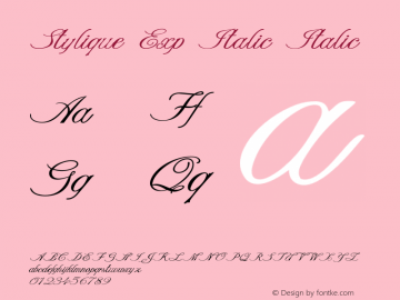 Stylique Exp Italic Italic Version 1.000图片样张
