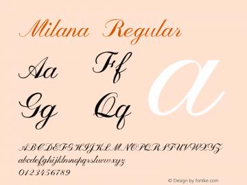 Milana Regular Version 1.000图片样张