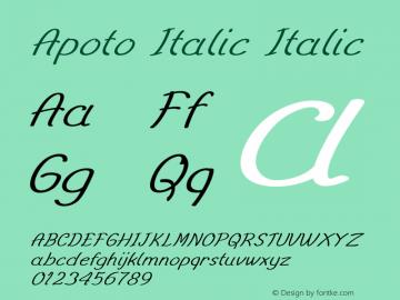 Apoto Italic Italic Version 1.000图片样张