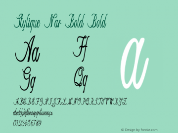 Stylique Nar Bold Bold Version 1.000图片样张