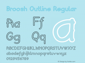 Broosh Outline Regular Version 1.000图片样张
