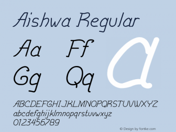 Aishwa Regular Version 1.000图片样张