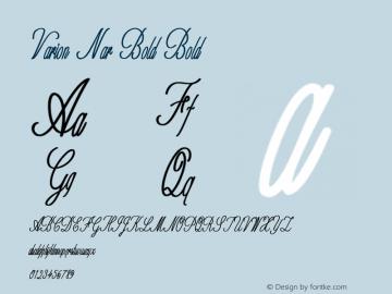 Varion Nar Bold Bold Version 1.000图片样张