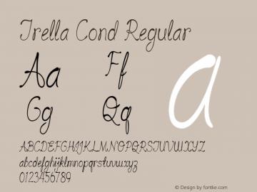 Trella Cond Regular Version 1.000图片样张