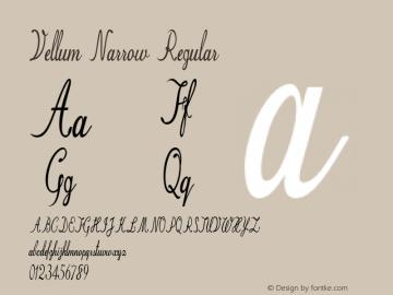Vellum Narrow Regular Version 1.000图片样张