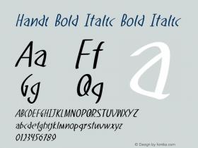 Handi Bold Italic Bold Italic Version 1.000图片样张