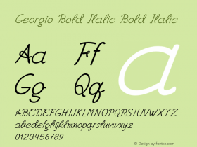 Georgio Bold Italic Bold Italic Version 1.000图片样张