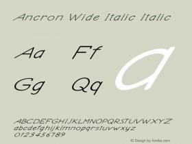 Ancron Wide Italic Italic Version 1.000图片样张