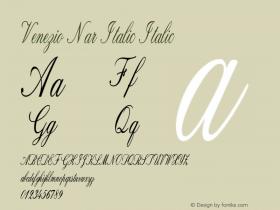 Venezio Nar Italic Italic Version 1.000图片样张