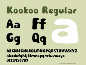 Kookoo Regular Version 1.000图片样张