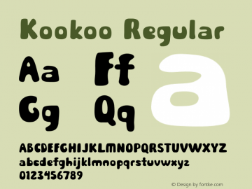 Kookoo Regular Version 1.000图片样张