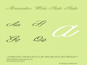 Romantico Wide Italic Italic Version 1.000图片样张