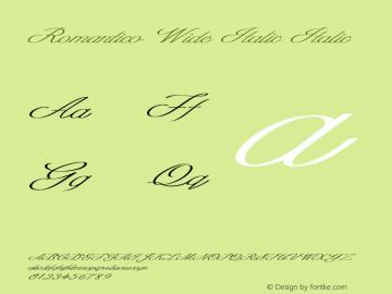 Romantico Wide Italic Italic Version 1.000图片样张