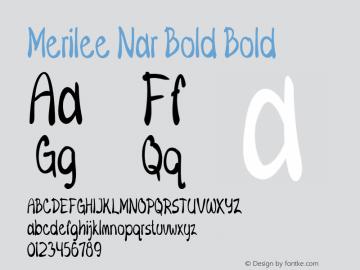 Merilee Nar Bold Bold Version 1.500图片样张