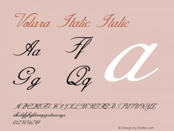 Volara Italic Italic Version 1.000图片样张
