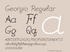Georgio Regular Version 1.000图片样张