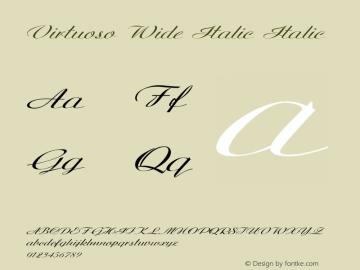Virtuoso Wide Italic Italic Version 1.000图片样张