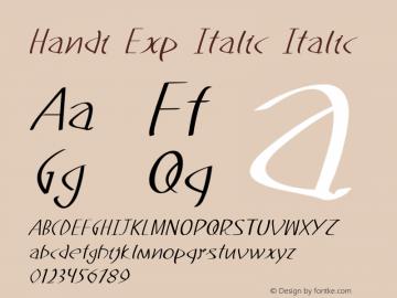 Handi Exp Italic Italic Version 1.000图片样张