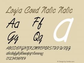 Logia Cond Italic Italic Version 1.000图片样张