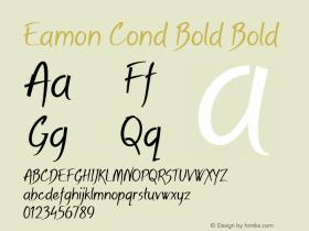 Eamon Cond Bold Bold Version 1.500图片样张