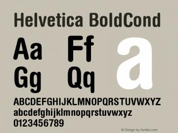 Helvetica BoldCond Version 001.000 Font Sample