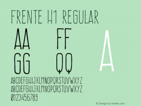 Frente H1 Regular Version 1.001;PS 001.001;hotconv 1.0.56;makeotf.lib2.0.21325图片样张
