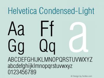 Helvetica Condensed-Light Version 001.002 Font Sample
