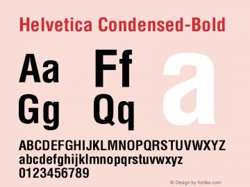 Helvetica Condensed-Bold Version 001.004 Font Sample
