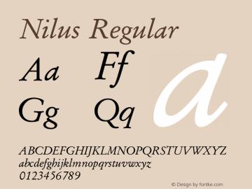 Nilus Regular Version 5.03图片样张