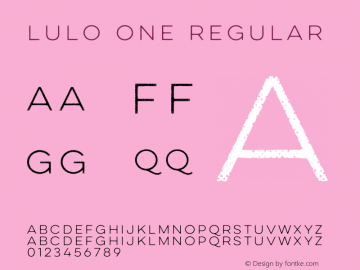 Lulo One Regular Version 1.000;com.myfonts.easy.yellow-design.lulo.one.wfkit2.version.4ecu Font Sample