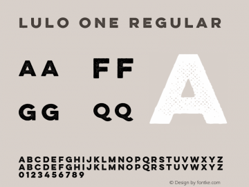 Lulo One Regular Version 1.000;com.myfonts.easy.yellow-design.lulo.one-bold.wfkit2.version.4ecs Font Sample