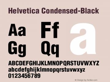Helvetica Condensed-Black Version 002.000 Font Sample